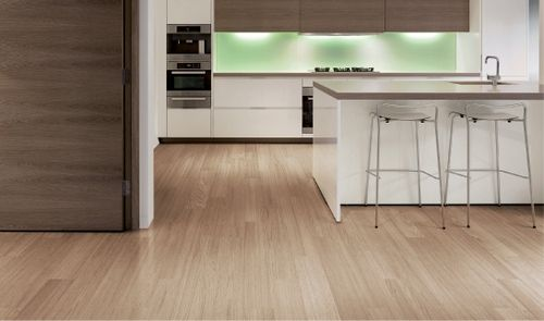 linoleum flooring that looks like wood planks For the Home