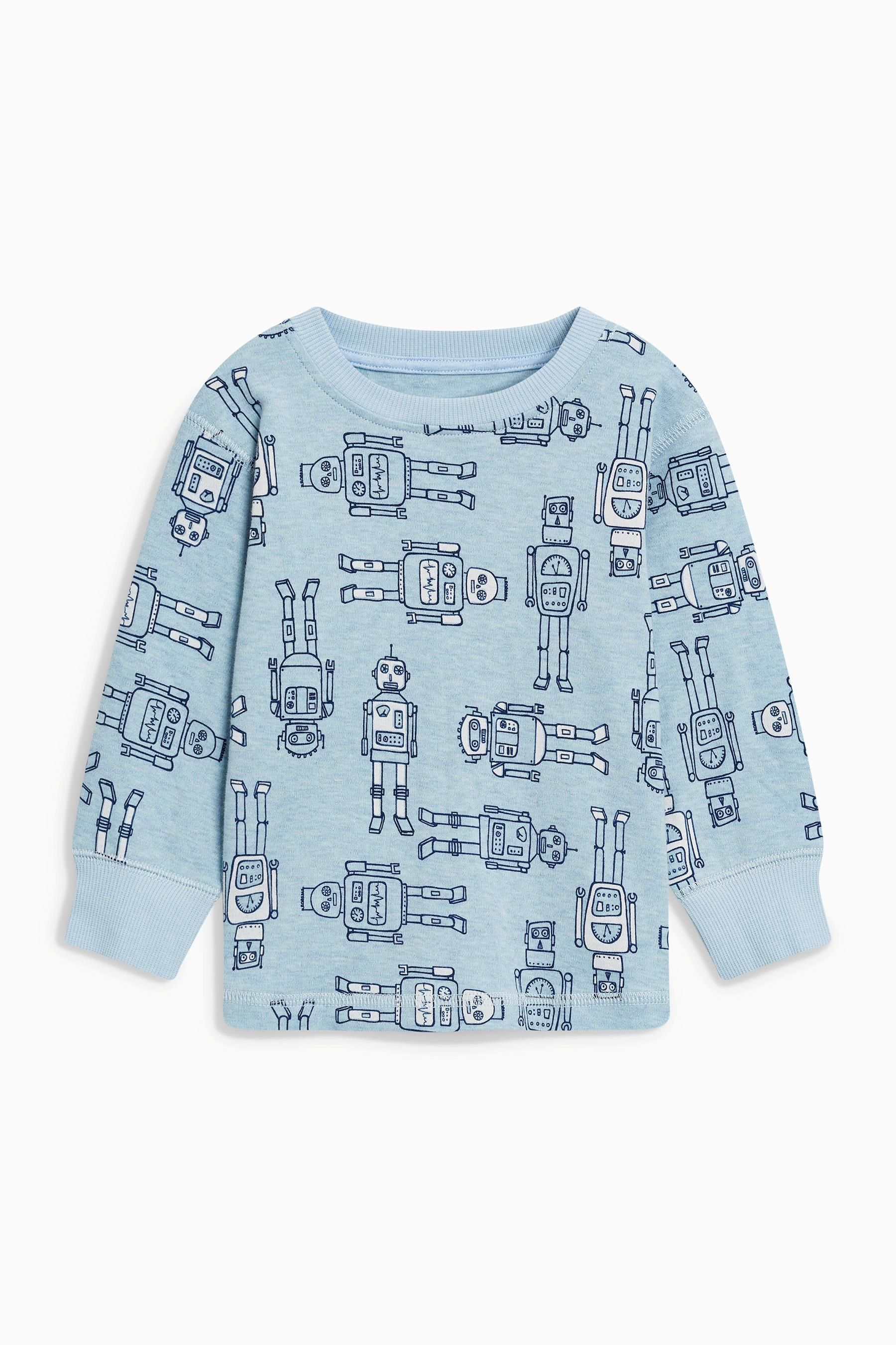 9ea7a21c73e Buy Blue Dog Snuggle Fit Pyjamas Three Pack (9mths-8yrs) from the Next UK  online shop