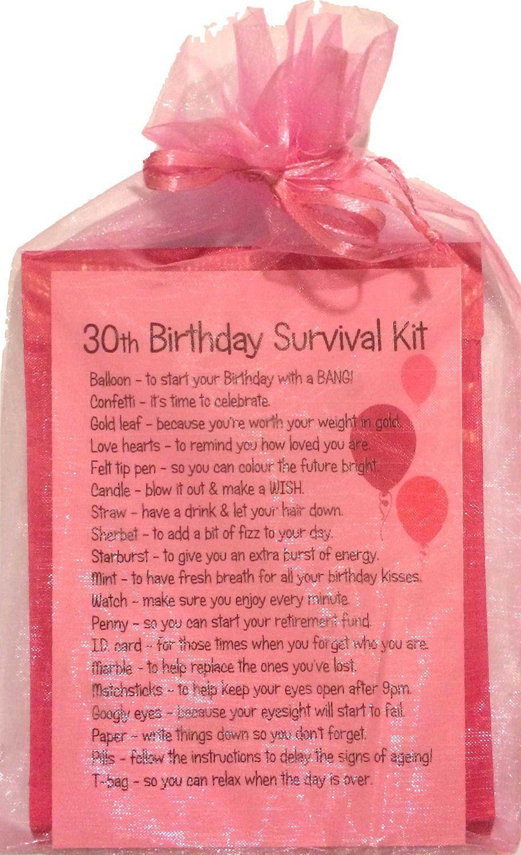 30TH BIRTHDAY SURVIVAL KIT PINK … Birthday survival kit