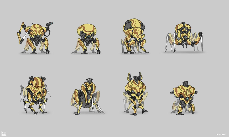 Artstation Warframe Corpus Arachnoid Sean Bigham Alien Design Character Design Illustration Design
