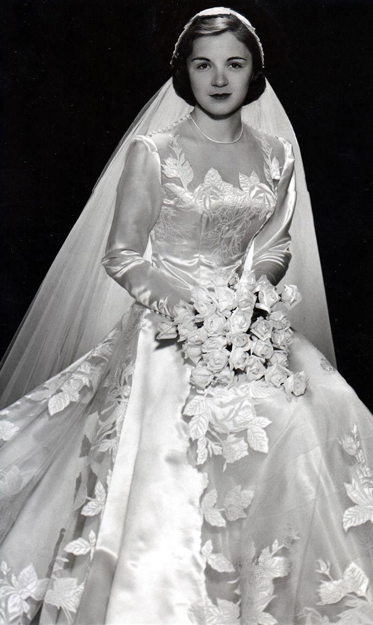 51385eeba ... of Wedding Gowns After World War II ~ vintage everyday. 1951 bride  #PhotographySerendipity #photography #wedding #bride