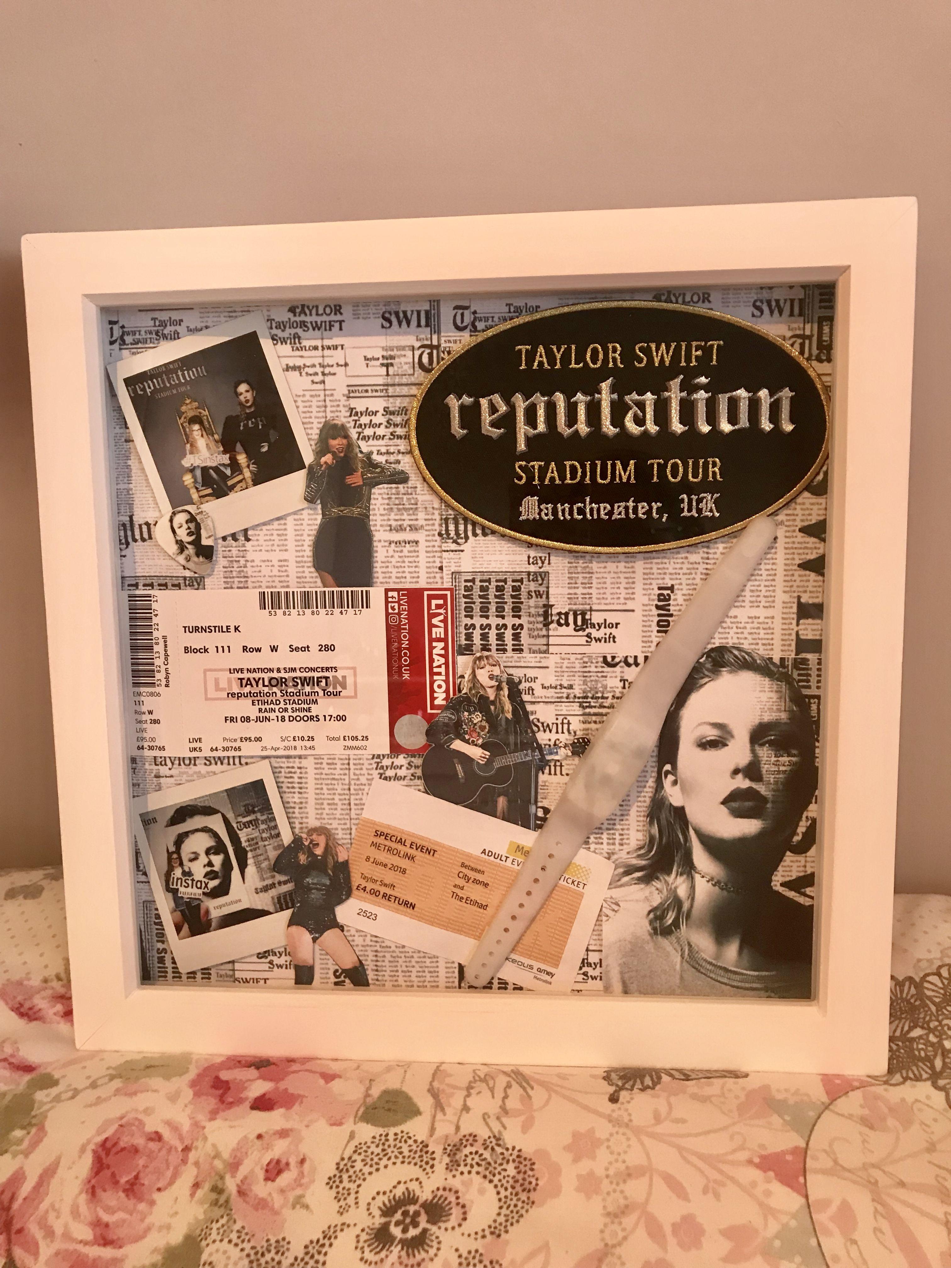 My Taylor Swift Reputation Tour Shadow Box Taylor Swift Fan Taylor Swift Pictures Taylor Swift