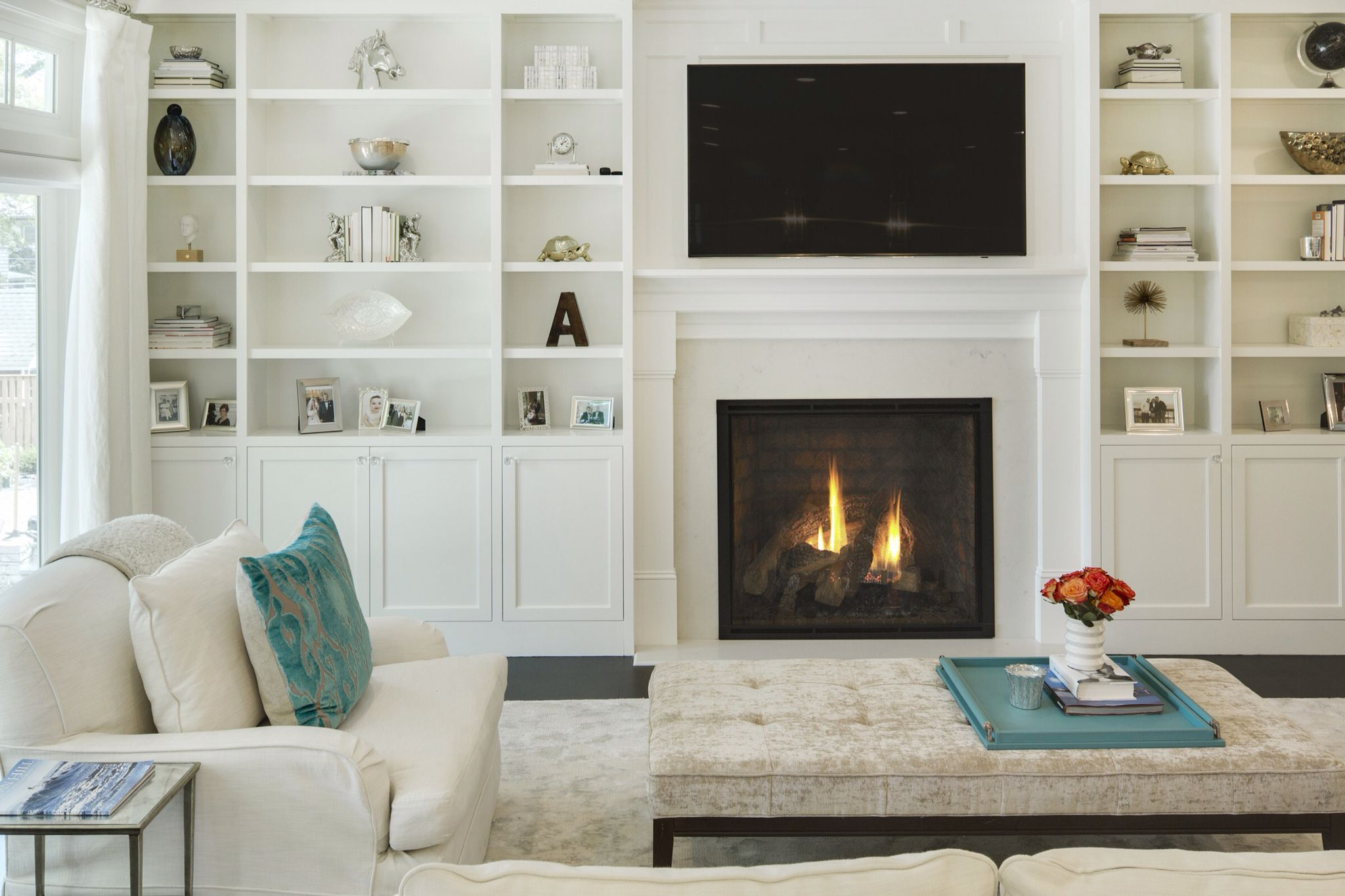 Built ins around fireplace   built-ins, shelves, and ...