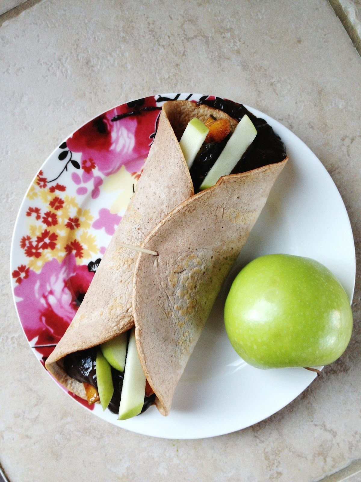 Chocolate Kabocha Squash Filled Sweet Cinnamon Wrap (With