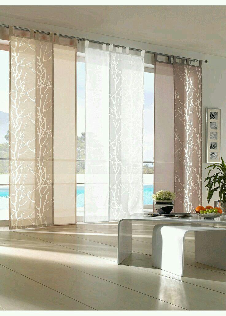 Sliding Panels Create The Look Of Sojhi Screens Window Treatmentideas Yoursbydeign Cortinas Para Ventanales Cortinas Para Habitacion Cortinas Para La Sala