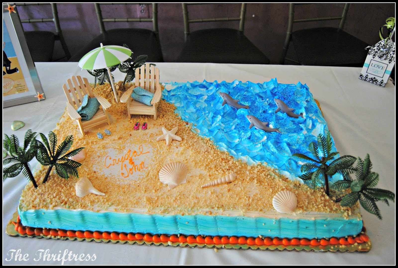 Beach Theme Bridal Shower Cakes The restaurant had a funky retro