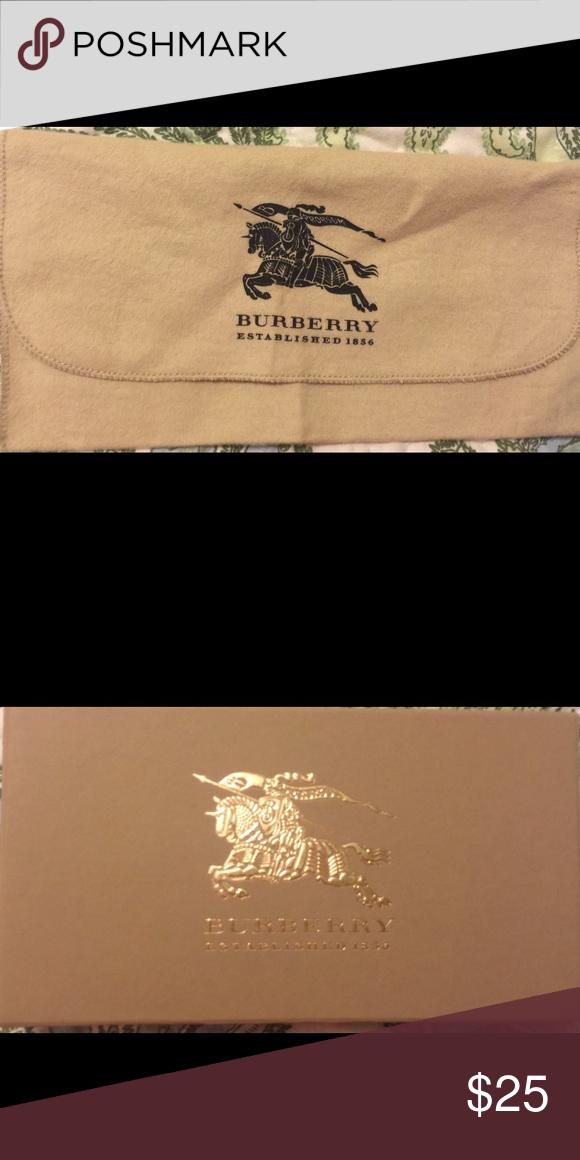 4b3479fd85ba Burberry wallet dust bag Beige cream colored cloth bag Burberry Bags Wallets