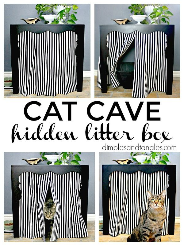 SIDE TABLE TO HIDDEN LITTER BOX (HOW TO HIDE THE LITTER BOX ...