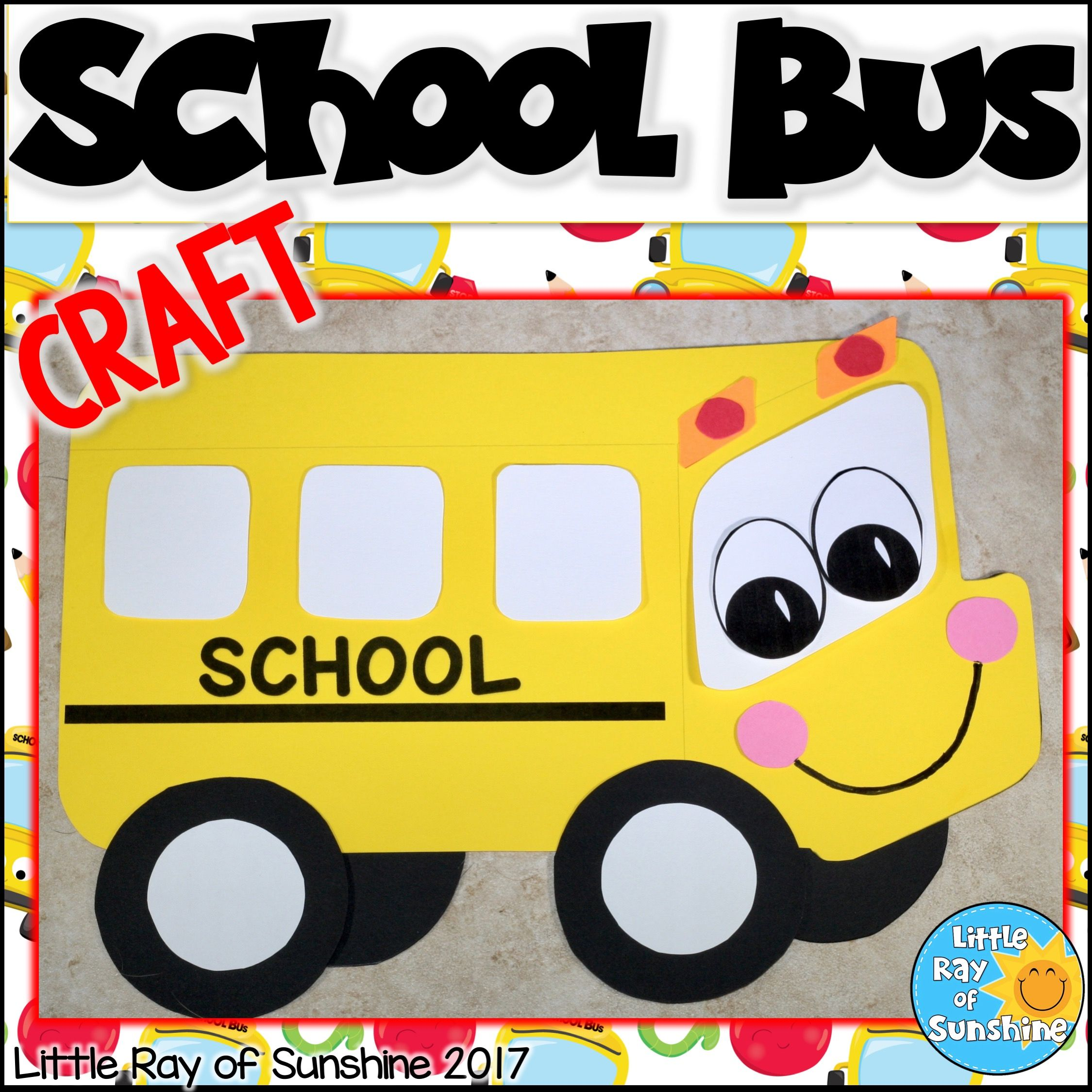 School Bus Crafts, Bus Crafts, Back To