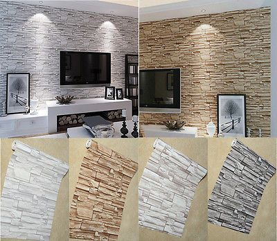 Details About 10m 3d Slate Stone Amp Brick Effect Patterned