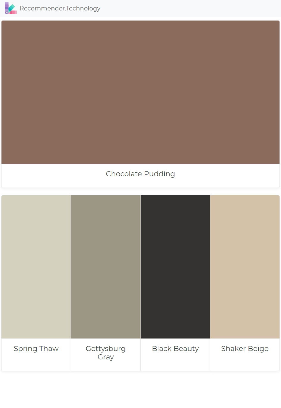 Chocolate Pudding Spring Thaw Gettysburg Gray Black Beauty