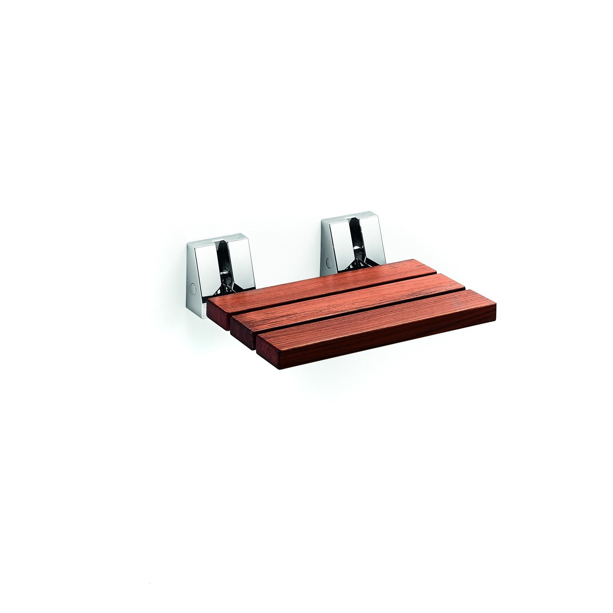 LB Scagni Folding Shower Seat in Teak Solid Wood, Fold Down Spa ...