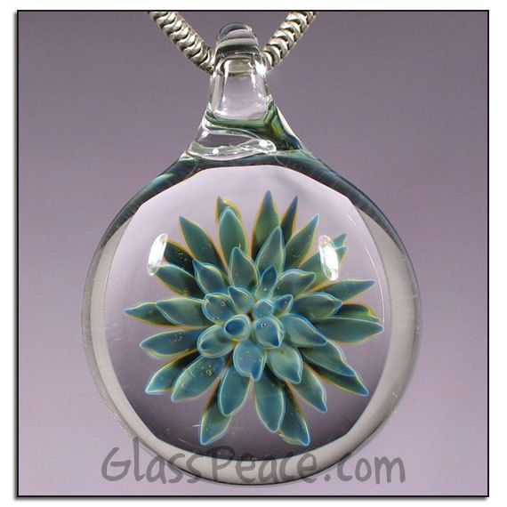 Sale Blue Glass Sea Anemone Pendant By Glass Peace 15 00 Lampwork Focal Bead Focal Bead Blue Glass