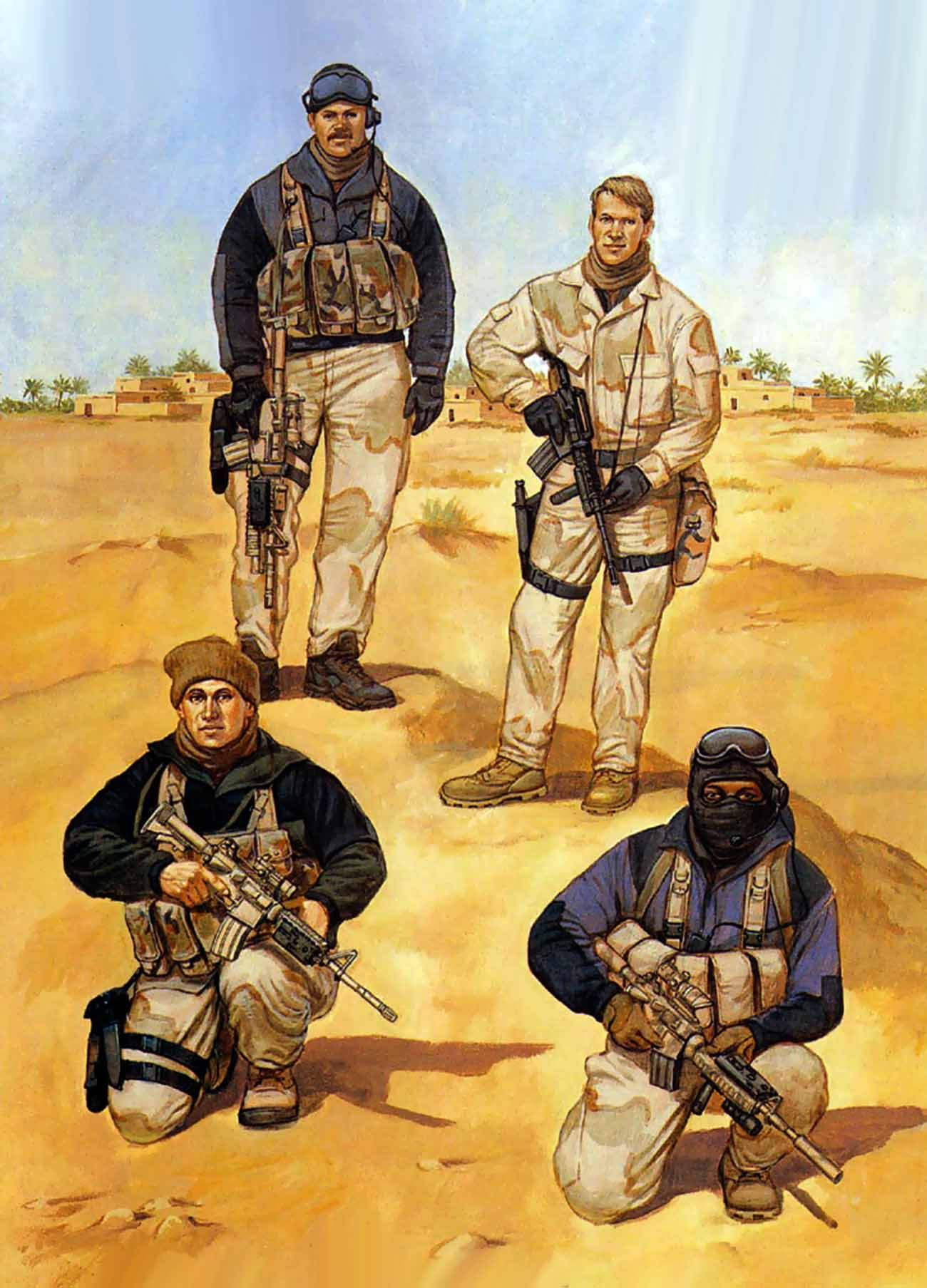 coalition forces during the gulf war infantería pinterest