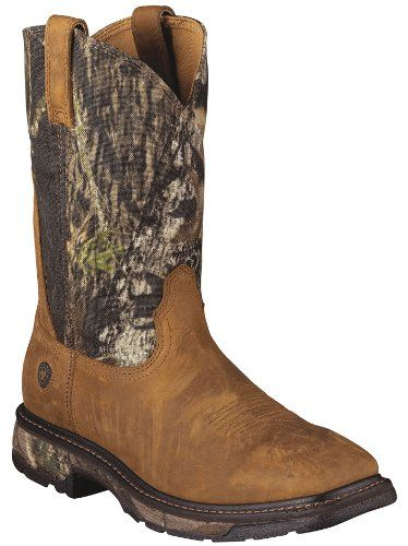 Ariat Men S Workhog Mossy Oak Camo Pull On Work Boot Square Toe Tan 11 Ee Us Http Authenticboots Com Ariat Mens Wor Pull On Work Boots Work Boots Men Boots