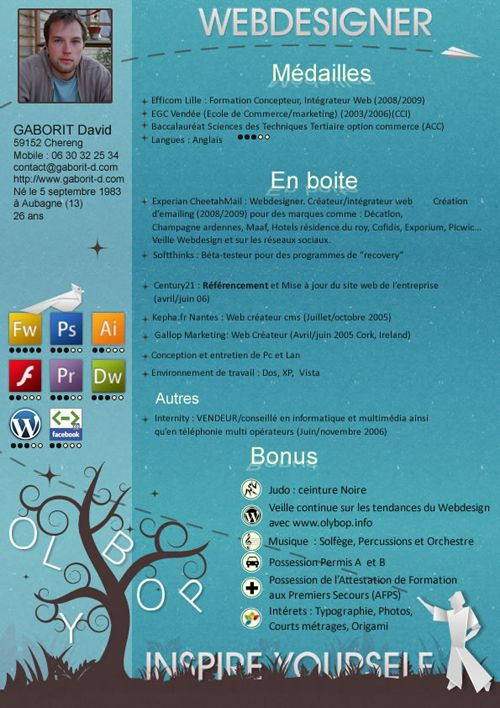 Creative CV - Resume by ~olybop on deviantART Infographic Visual