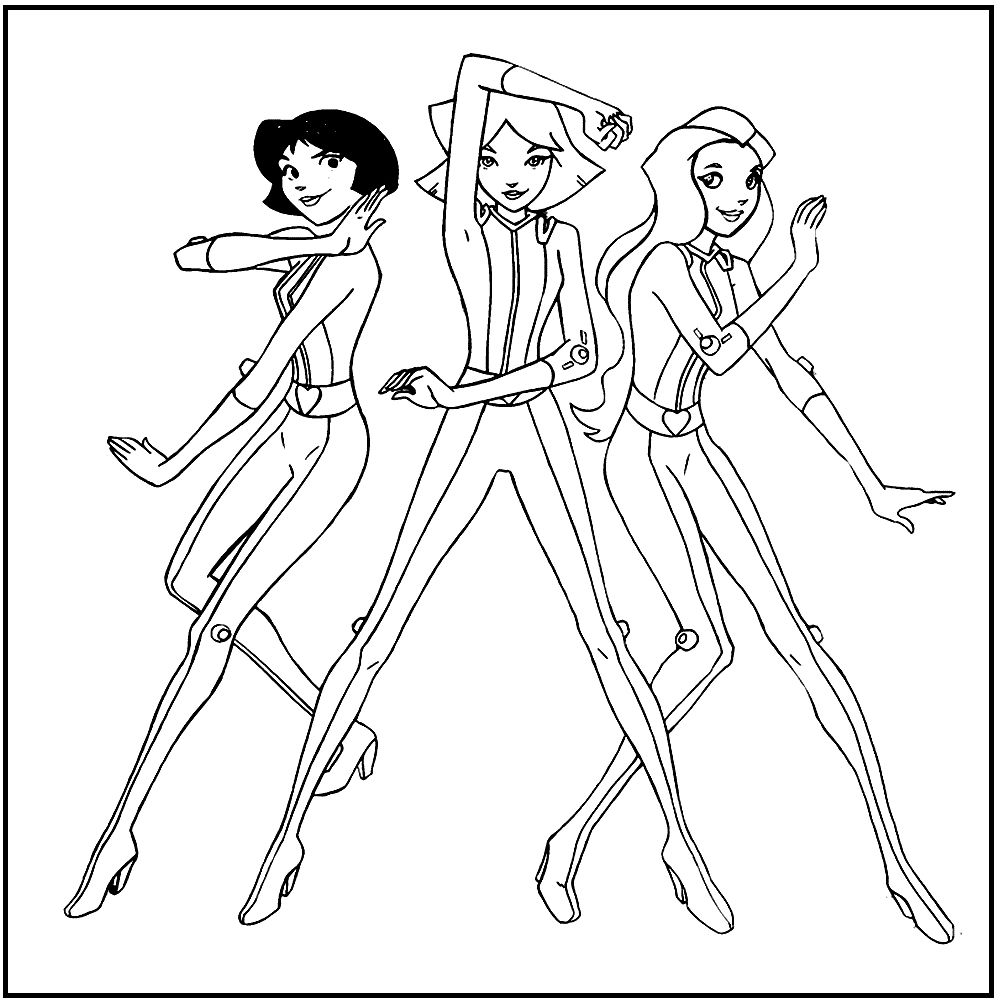 Totally Spies Coloring Pages Printable Totally Spies Coloring Pictures For Kids Coloring Pages