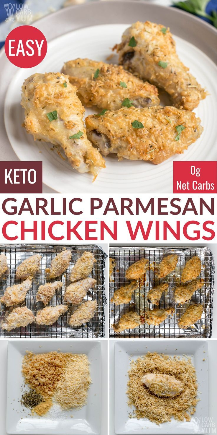 Garlic Parmesan Chicken Wings Recipe (Keto, Gluten Free)
