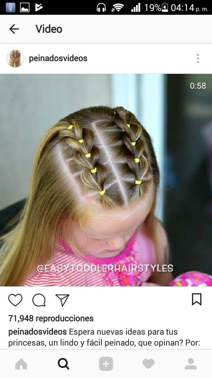 Me encanta el peinado muy censillo y bonito peinados para niñas