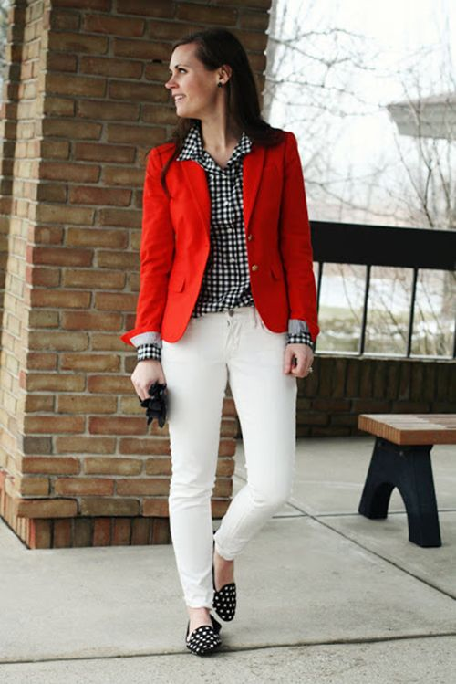 Divitip Como Combino Un Blazer Rojo Pantalon Rojo Mujer Sacos De Vestir Mujer Pantalon Blanco Mujer