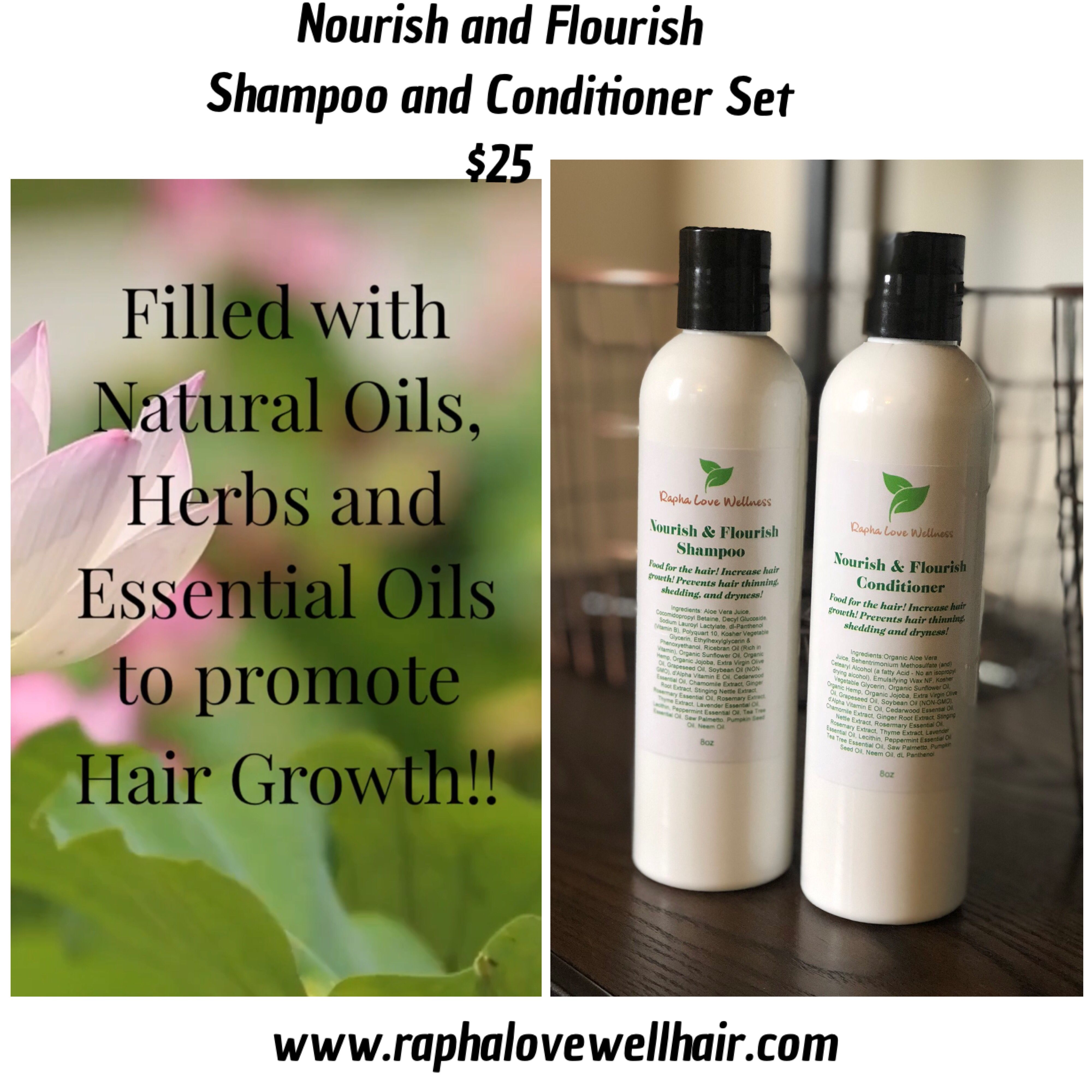 Rapha Love Wellness Nourish and Flourish Shampoo and Conditioner