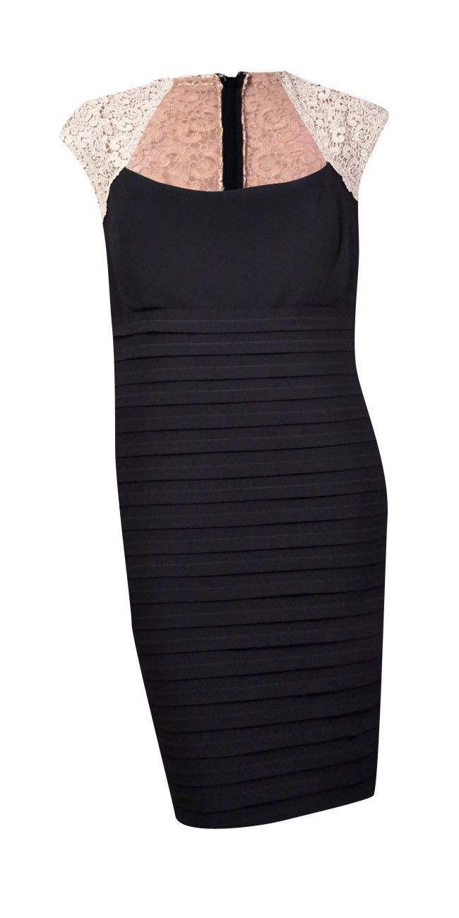 Xscape womenus lace cap sleeve tiered jersey sheath dress products