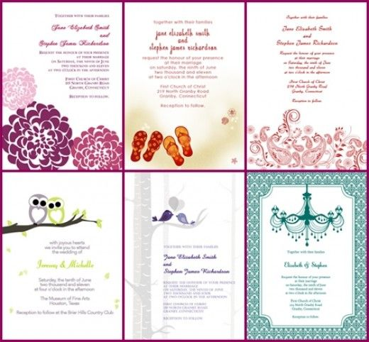 5 Websites Offering Free Wedding Invitation Templates