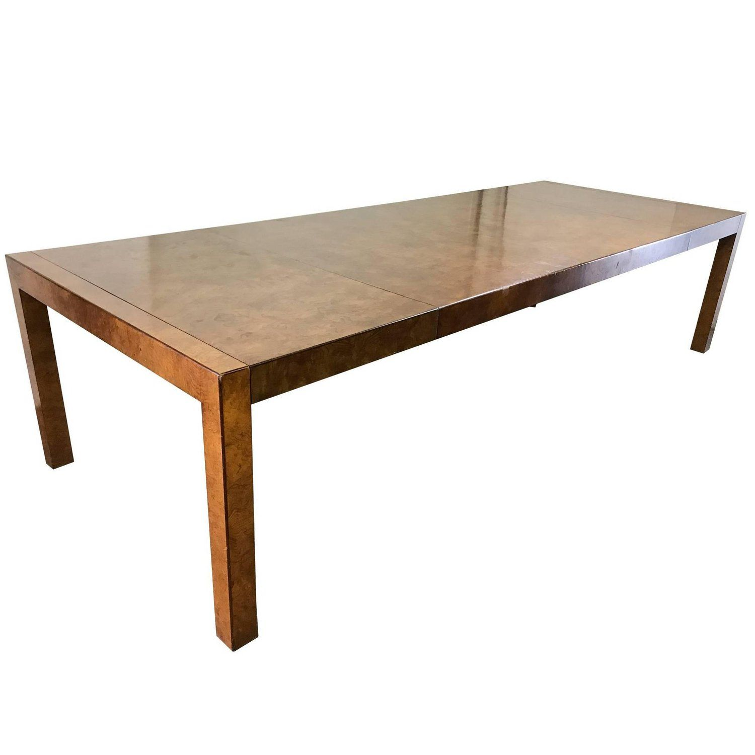 burl wood parsons style dining table by widdicomb bg galleries