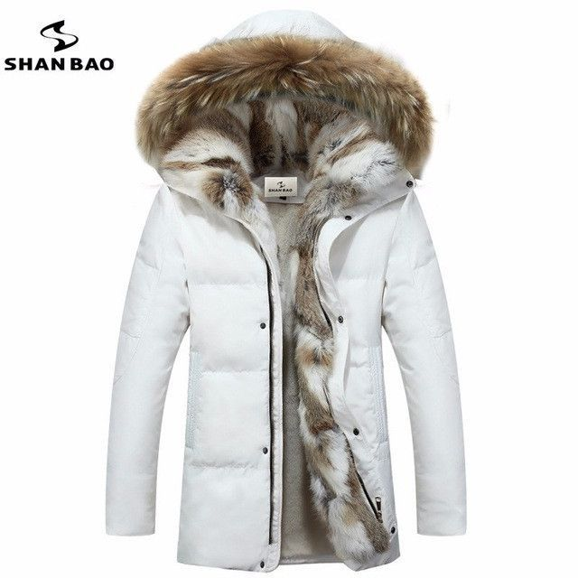 Men s and women s leisure down jacket high quality thick warm warm with Fur hooded  parka brand big size yellow black white S-5XL 6d85636f8