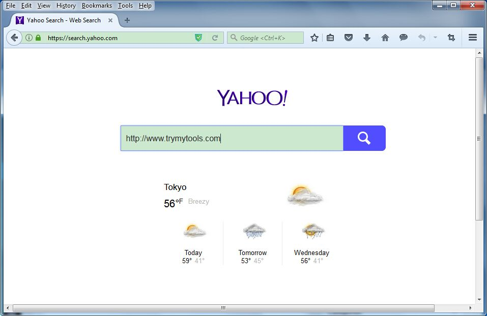 Search.yahoo.com is a fake search engine that gets installed on computer mainly bundled with freeware you download from the Internet.