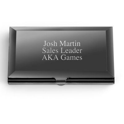 Personalized polished gunmetal card case by things remembered personalized polished gunmetal card case by things remembered reheart Images