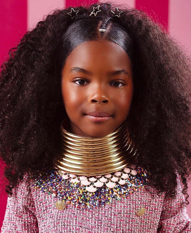 Pin By Bajan Diva On Ebony Hair Makeup Kids Hairstyles