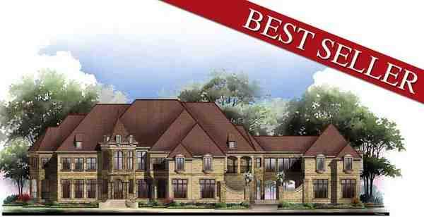 Greek Revival Style House Plan with 6 Bed 9 Bath 5 Car Garage