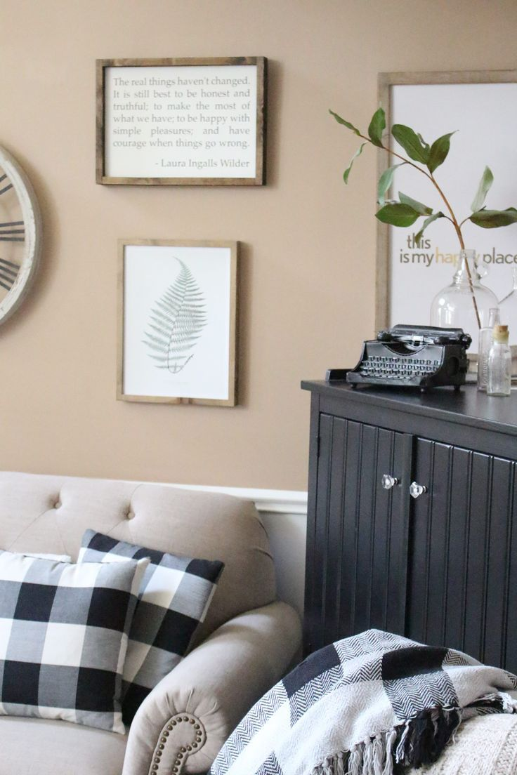 New Corner Hutch in the Family Room | Vintage typewriters, Farmhouse ...