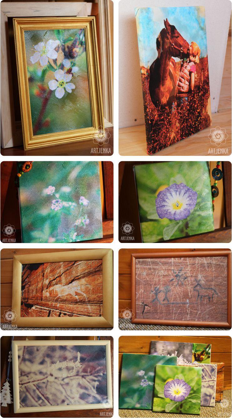 Портфолио - примеры картин на холсте из фотографий, с художественной обработкой