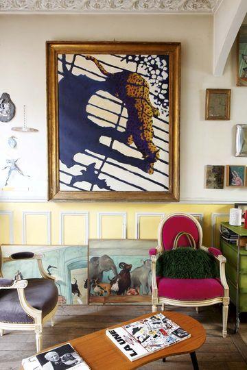 D co bobo pour maison parisienne avec jardin la butte aux cailles artful living maison - Maison parisienne ...