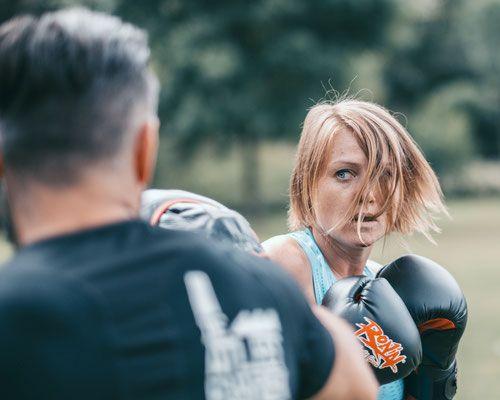 Focus, fight, boksing