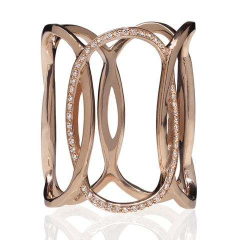 Rose Gold Champagne Diamond Ring Edgy Jewelry NYC Catherine