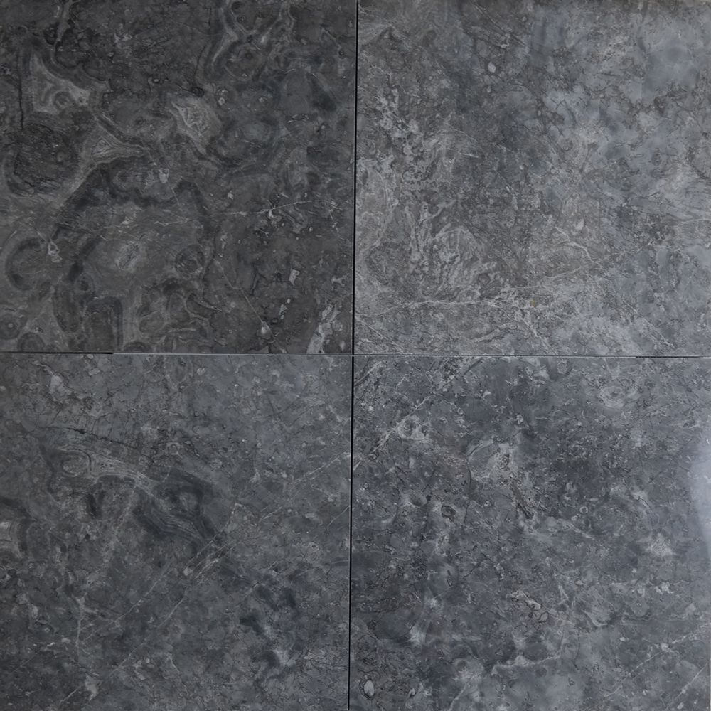 12 X 12 Tile Dark Grey Marble Polished Marble Polishing Grey Marble Floor Grey Flooring