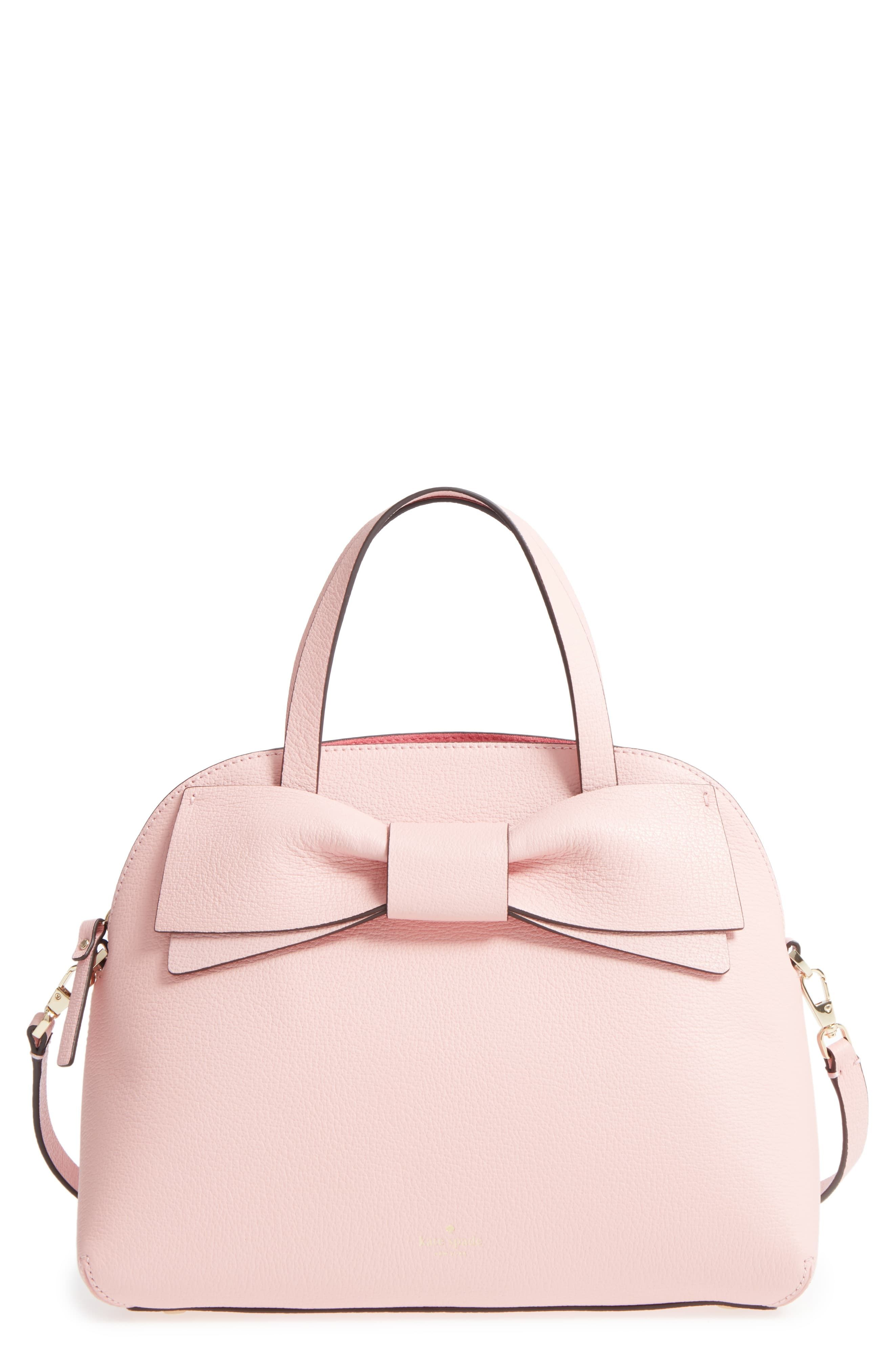 aa70bc4126fd Kate Spade New York Olive Drive Lottie Leather Satchel - Pink ...