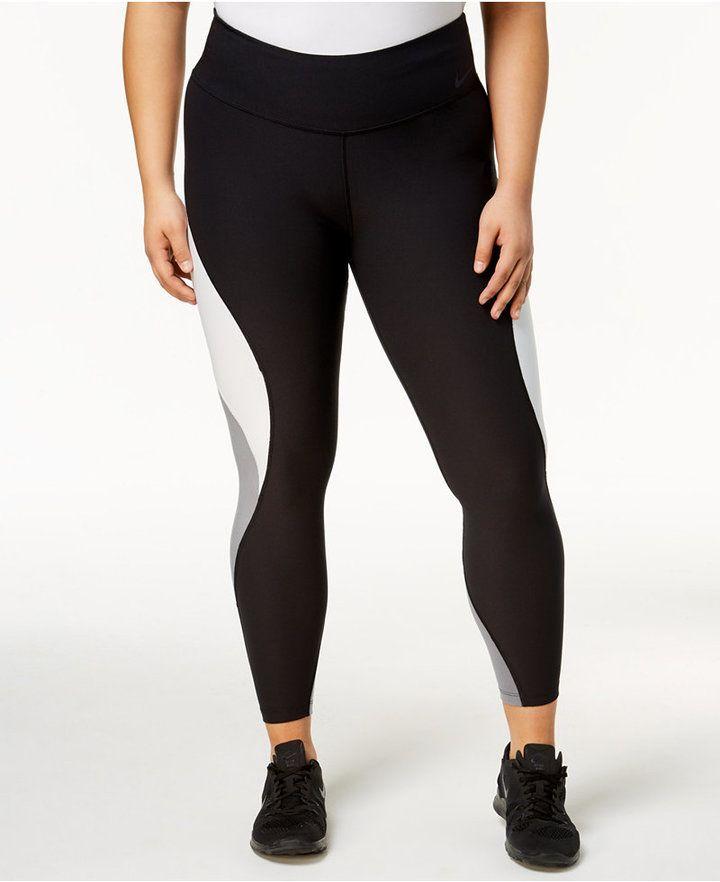 0f5afa52ea Nike Plus Size Power Legend Colorblocked Leggings