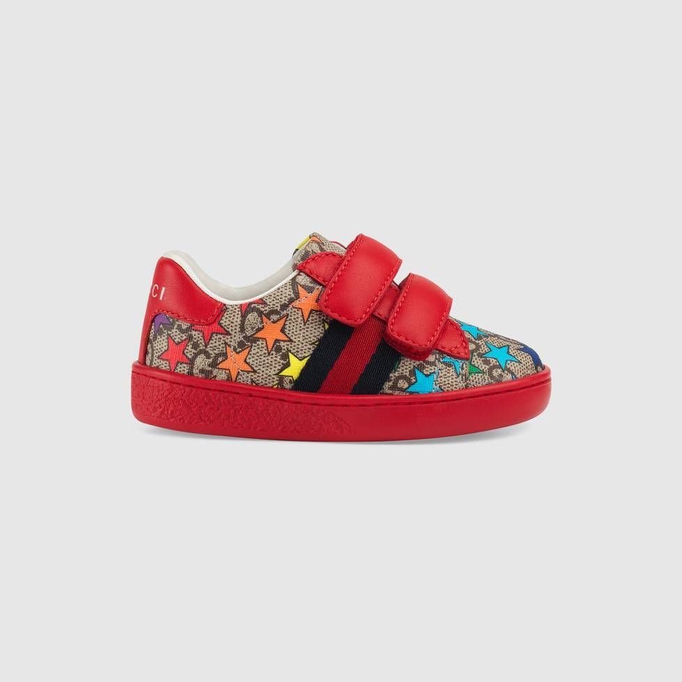0afeeac8fd6 Shop the Toddler Ace GG rainbow star sneaker by Gucci. The historic GG  pattern is