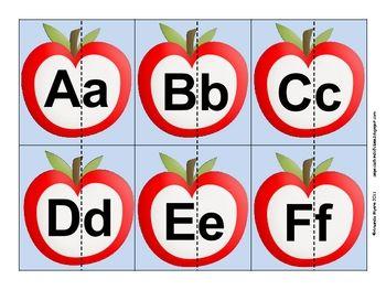 Free Apple Alphabet Match