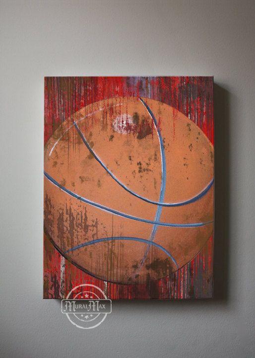 Vintage Basketball Canvas Reproduction ,Vintage Sports Canvas Art ...