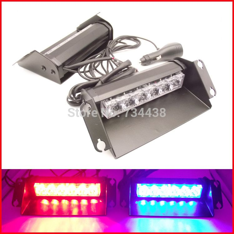 Strobe Lights For Cars Brilliant 2X6 Led Police Strobe Lights Vehicle Flashing Shovel Light Car Dash