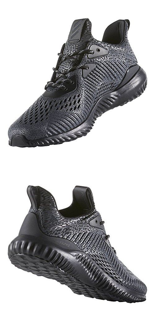 competitive price 4a97f 4b0aa Adidas Performance Men s Alphabounce Ams Running Shoe, Black Utility Black  White, 9 M US