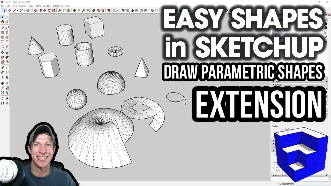 Easy Parametric Shapes In Sketchup With The Su Draw Parametric