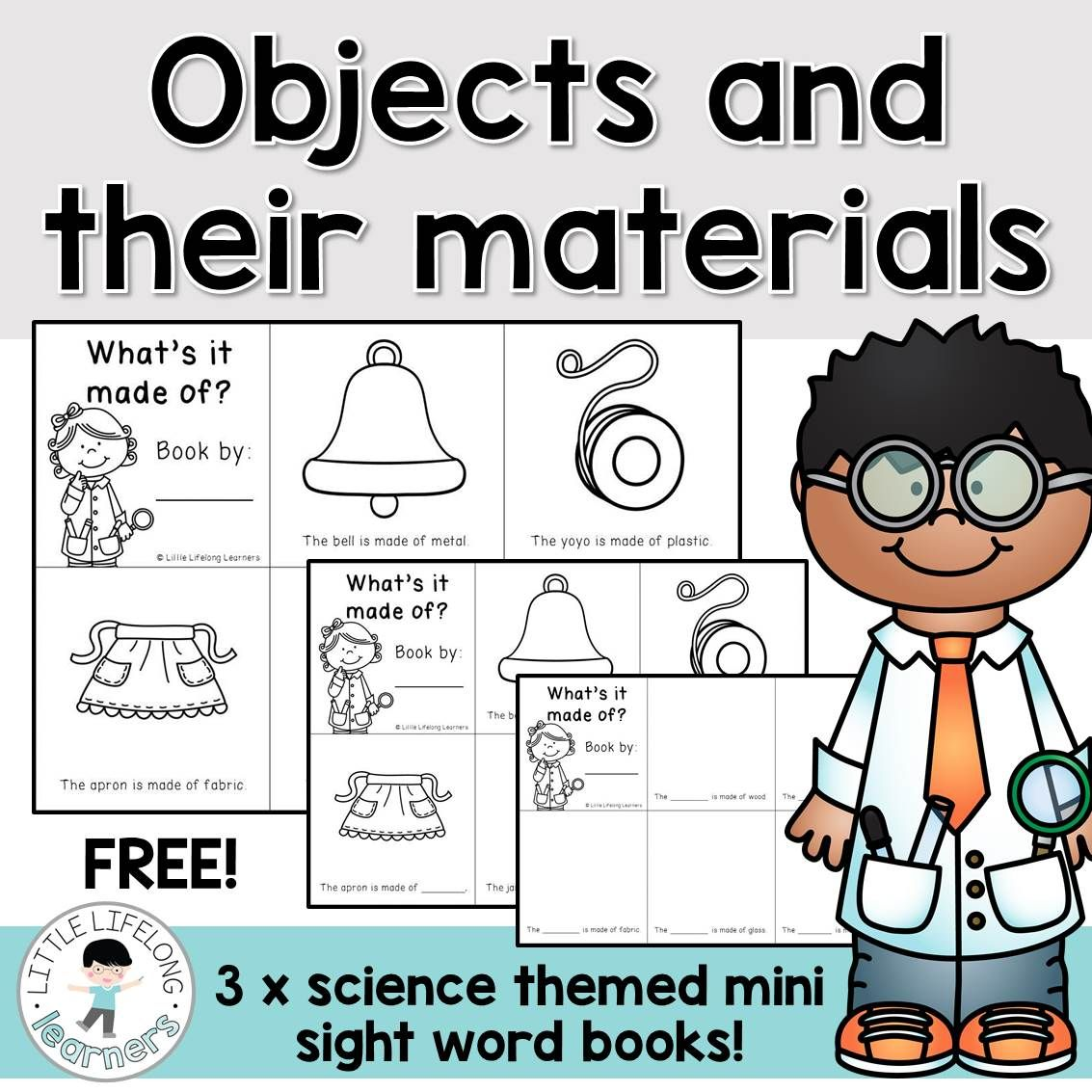 Review the materials that familar objects are made from with the ...