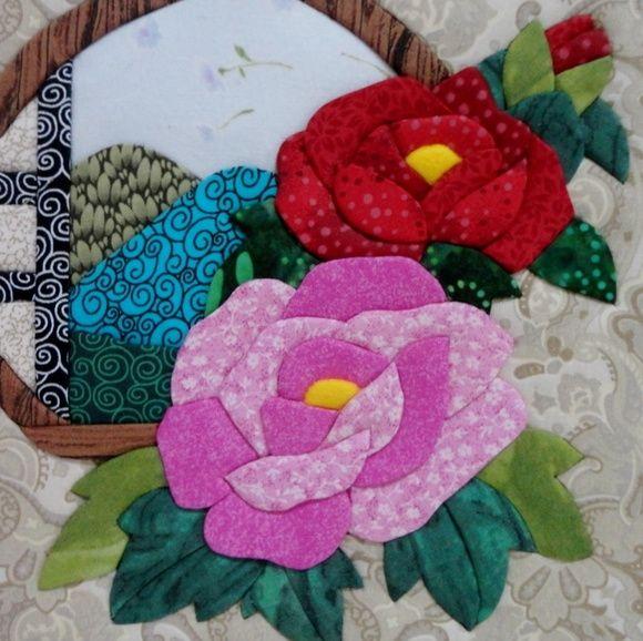 Caixa em patchwork embutido | cuadros | Pinterest | Applikationen