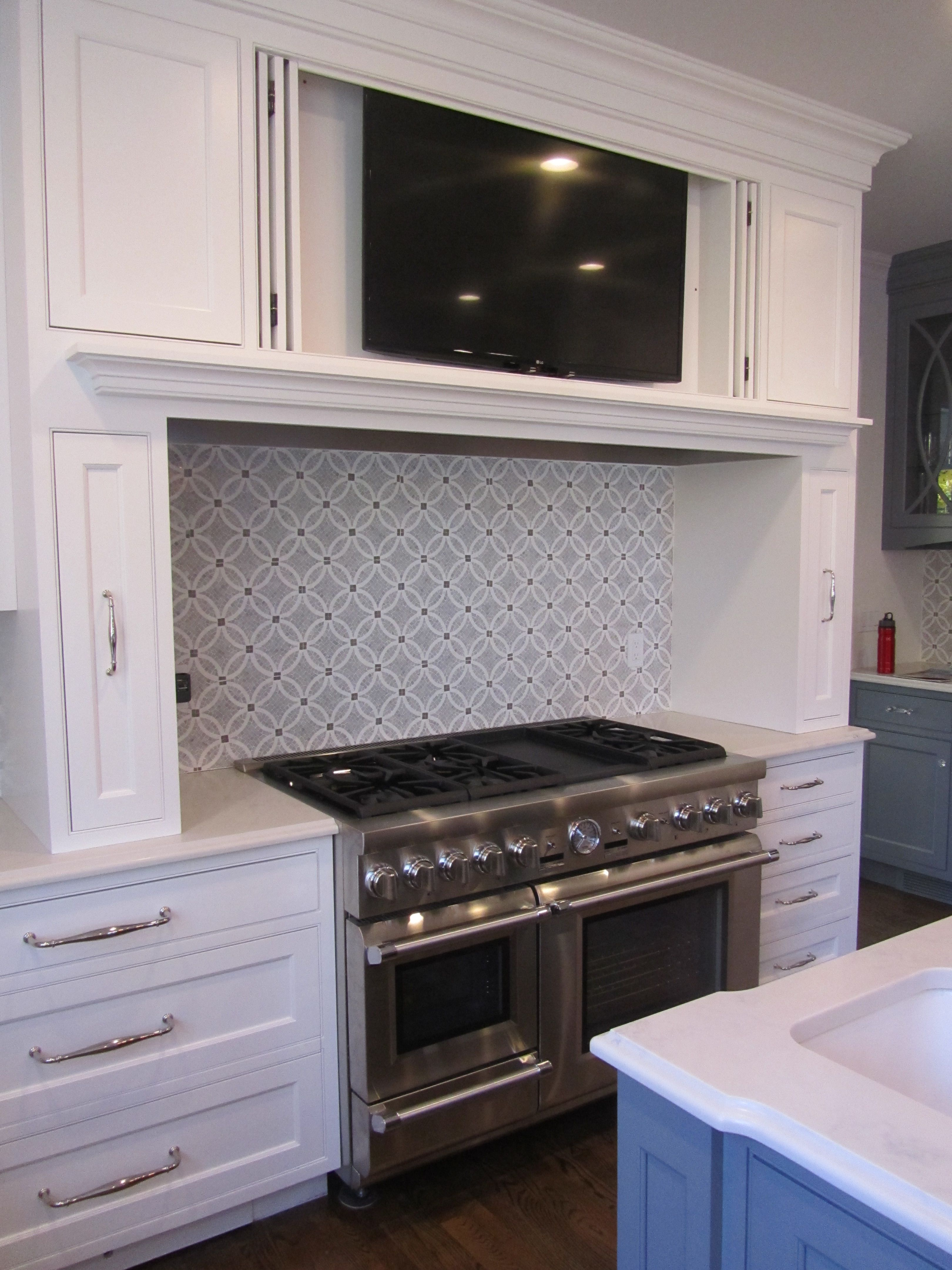 Tv Cabinet Kitchen Transitional Kitchen Beaded Inset White And Gray